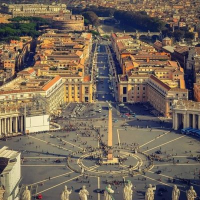 Dome of Saint Peter Basilica and Castle Sant'Angelo