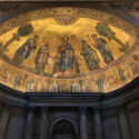The Basilica of Saint Paul and the Pope's portraits