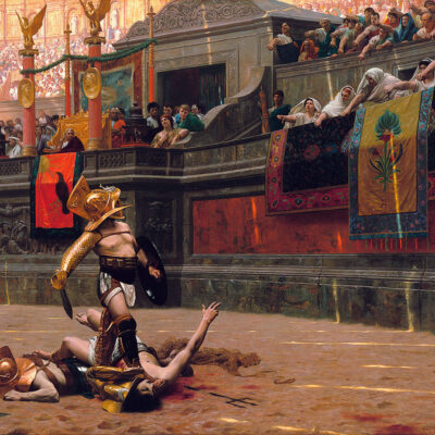 Gladiator's death: thumb up or thumb down?